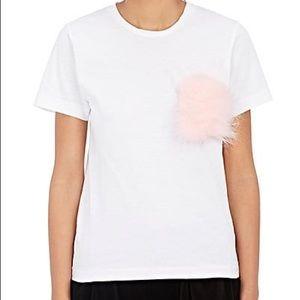 COMME des GARCONS girl fur detailed t-shirt Sz M